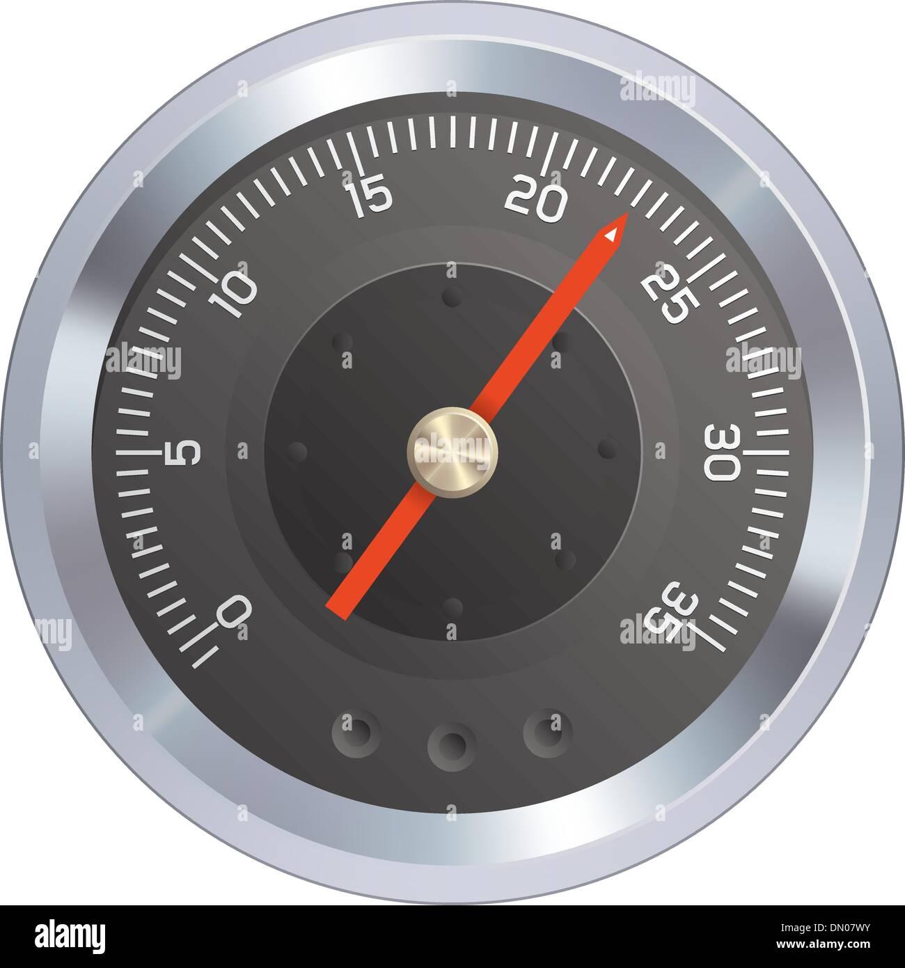 Gauge or meter vector - Stock Vector