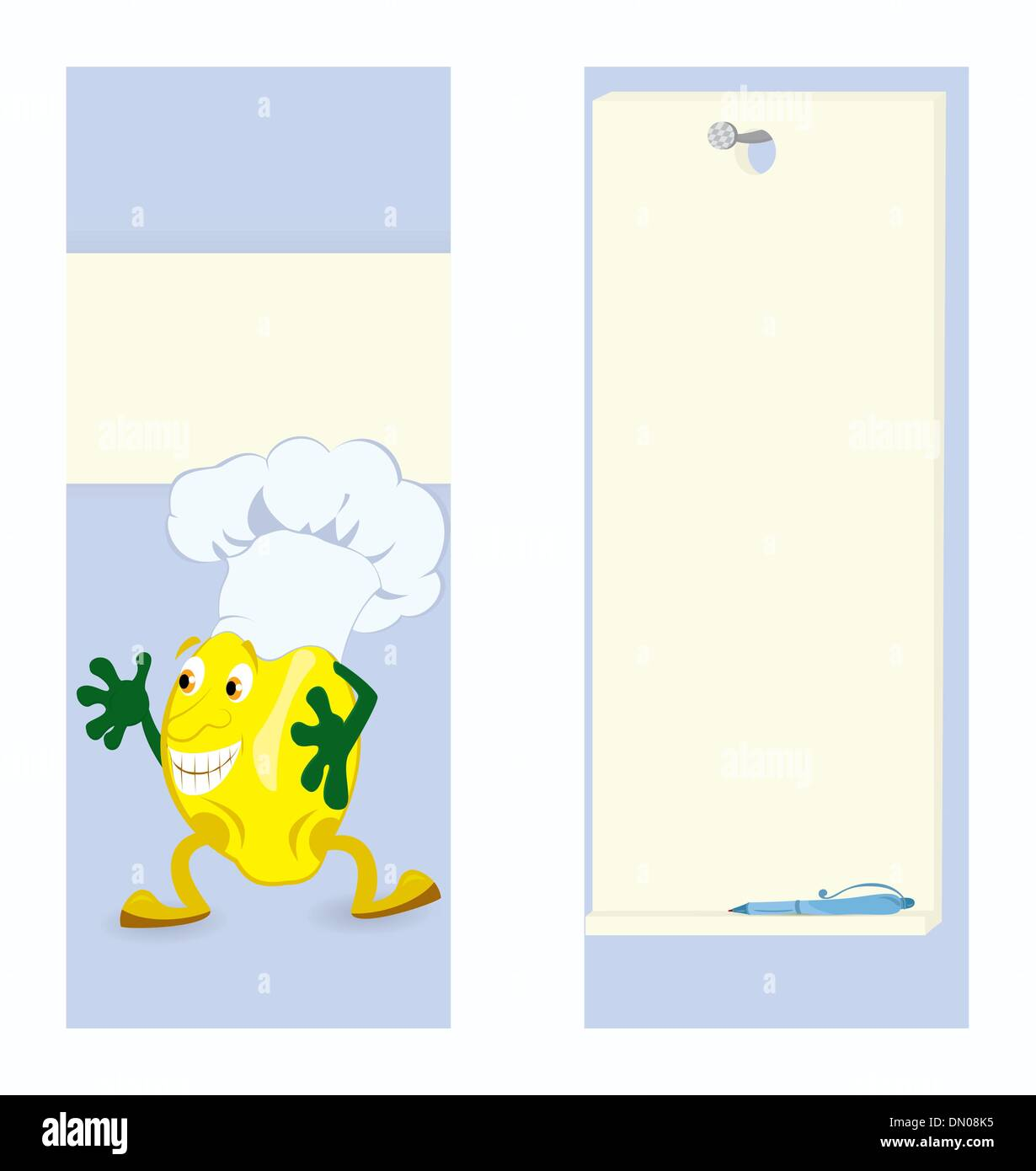 lemon cartoon character card template stock vector art
