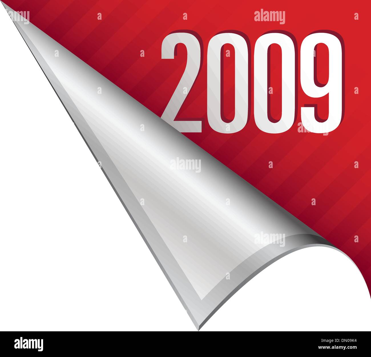 2009 corner tab - Stock Vector