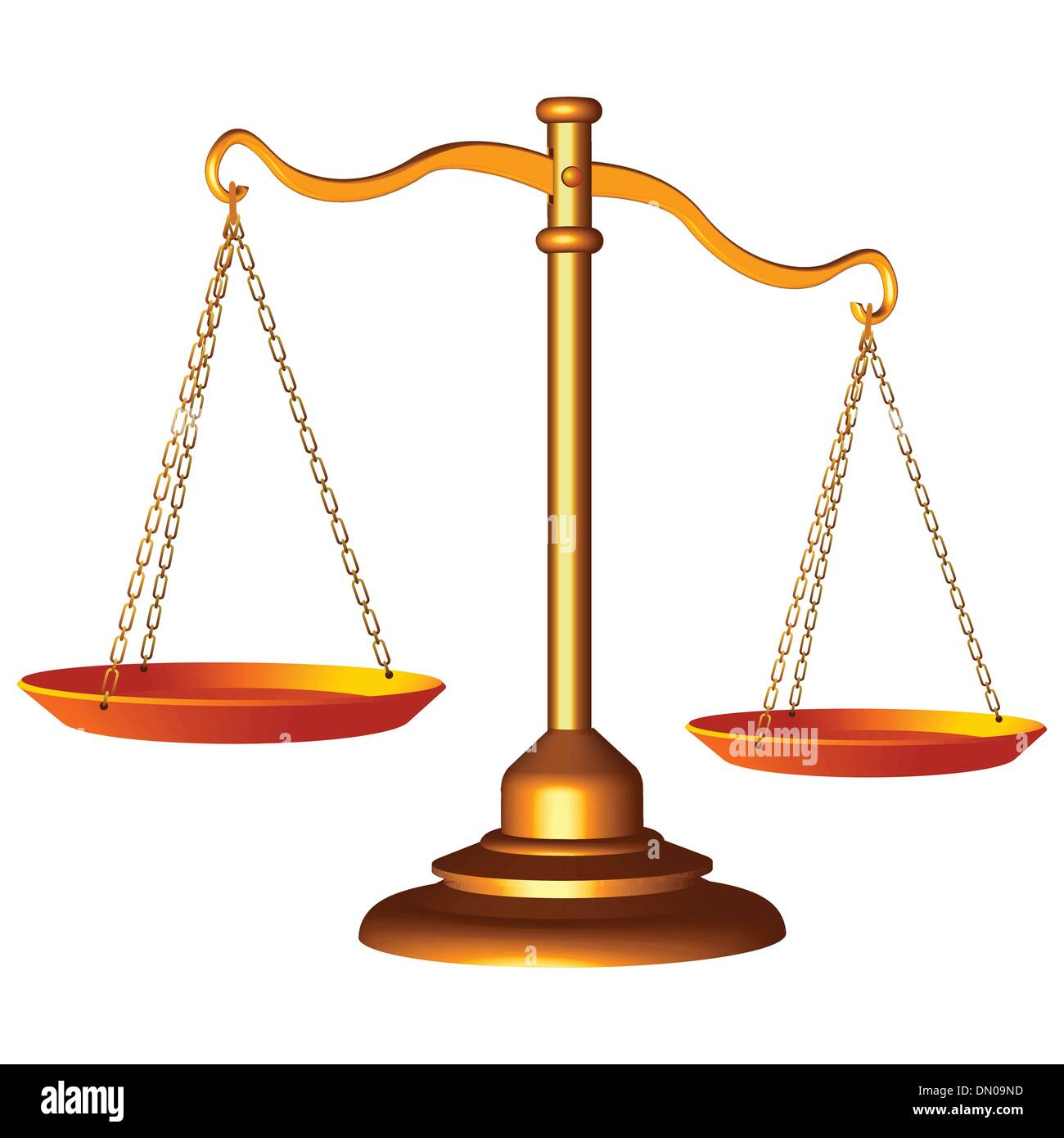 Golden Scale Of Justice Stock Vector Art Illustration Vector