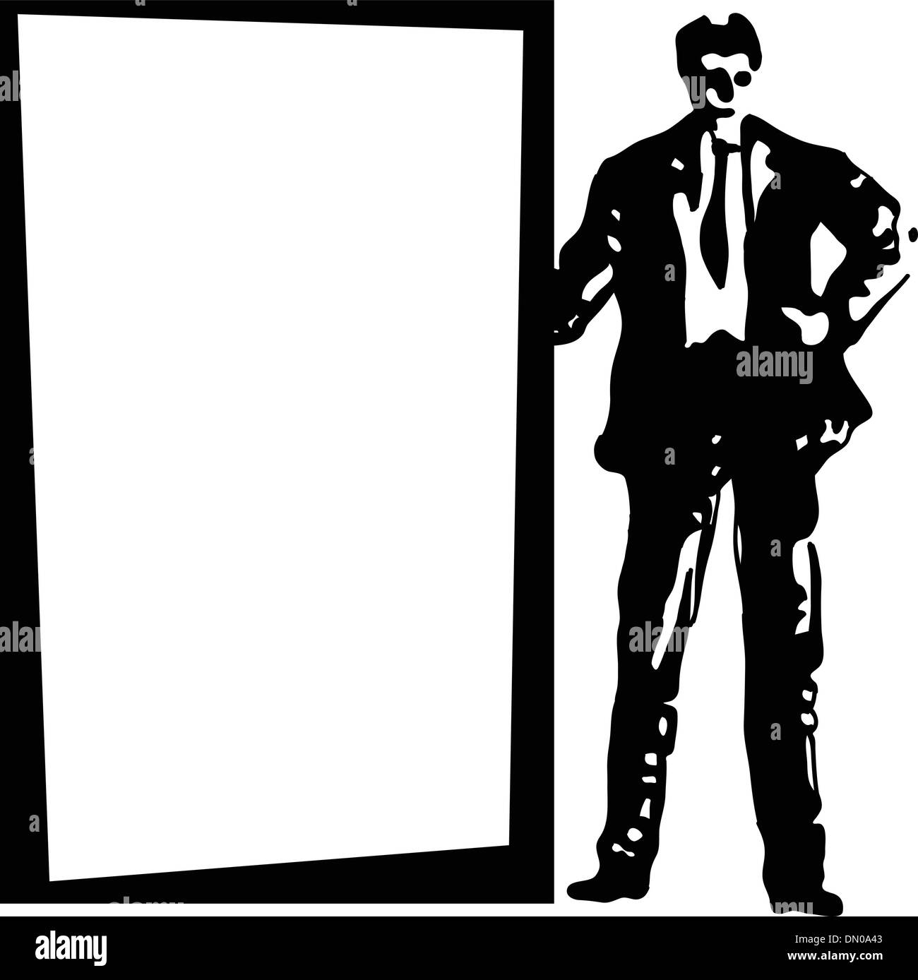 Background to the businessman - Stock Image