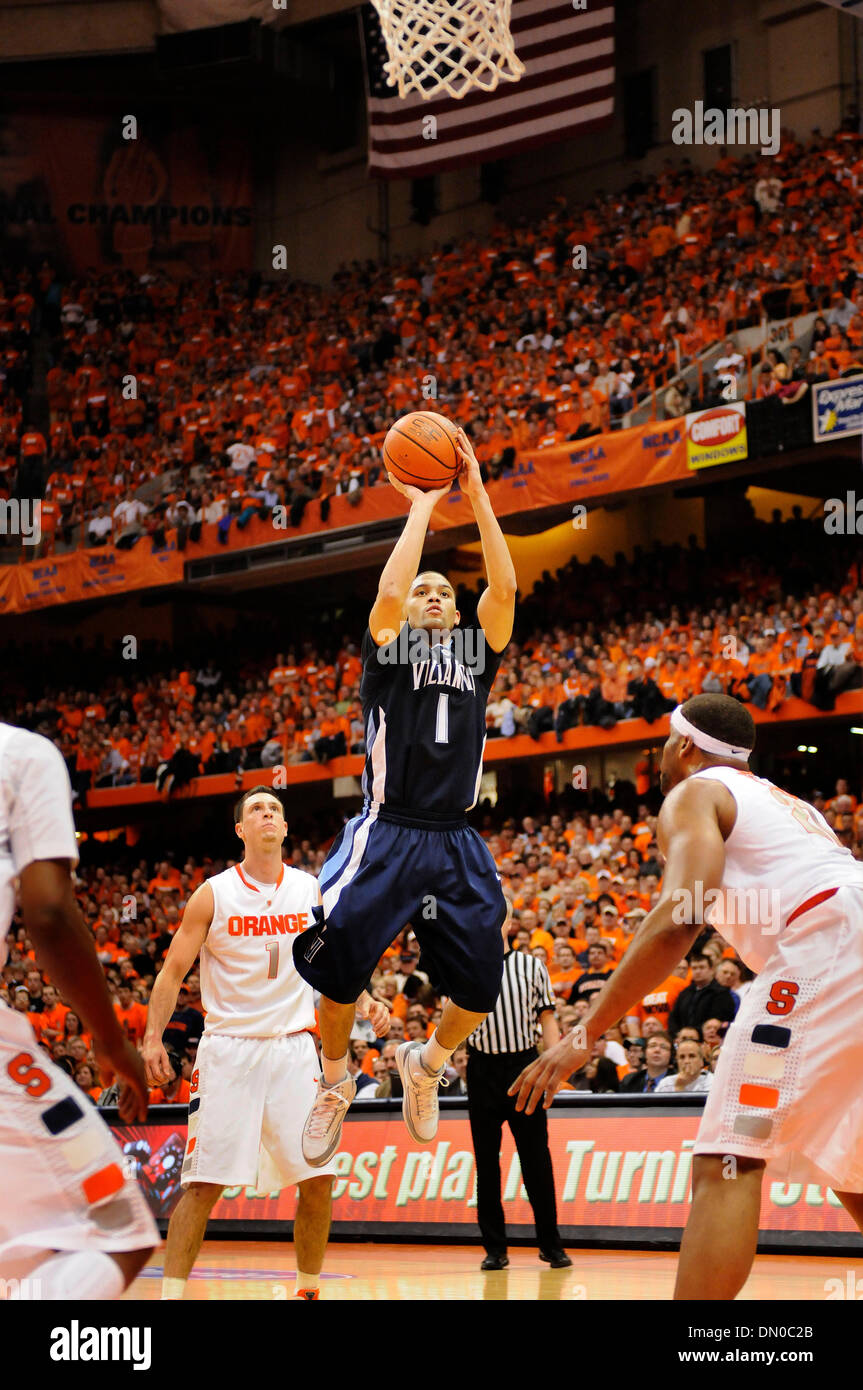 February 27, 2010: Villanova guard Scottie Reynolds (1) in action at the Carrier Dome. Syracuse defeated Villanova - Stock Image