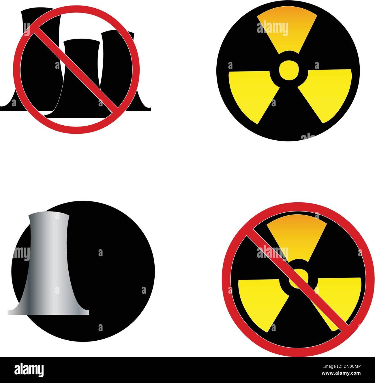 nuclear power symbols - Stock Vector
