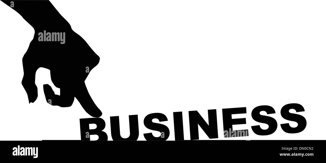 Symbol of bad business - Stock Image