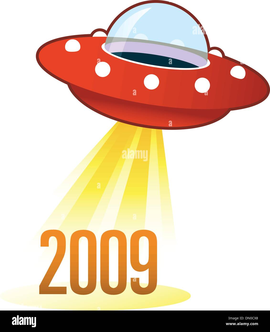 2009 UFO button - Stock Vector