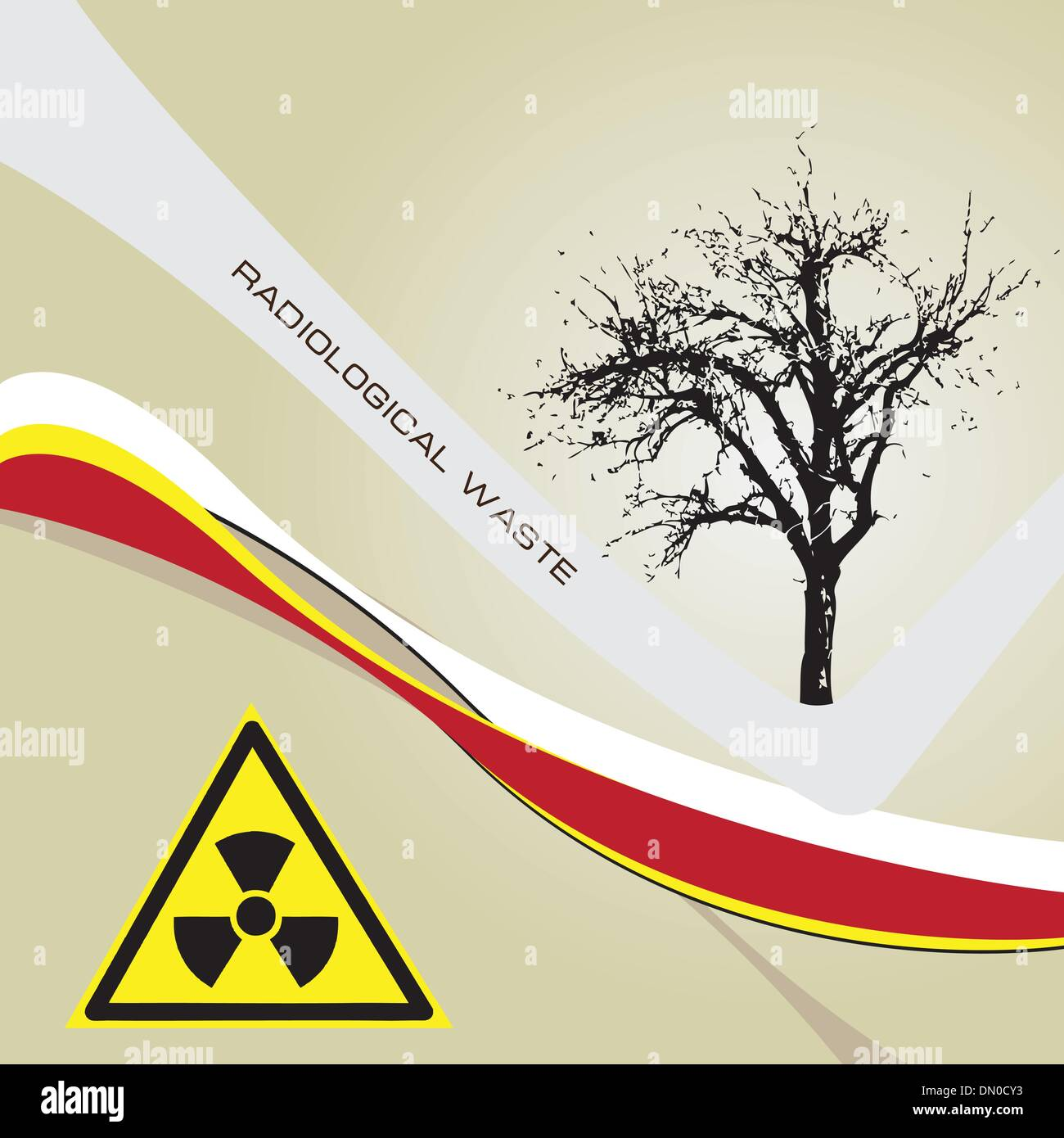 Background radiation waste - Stock Vector