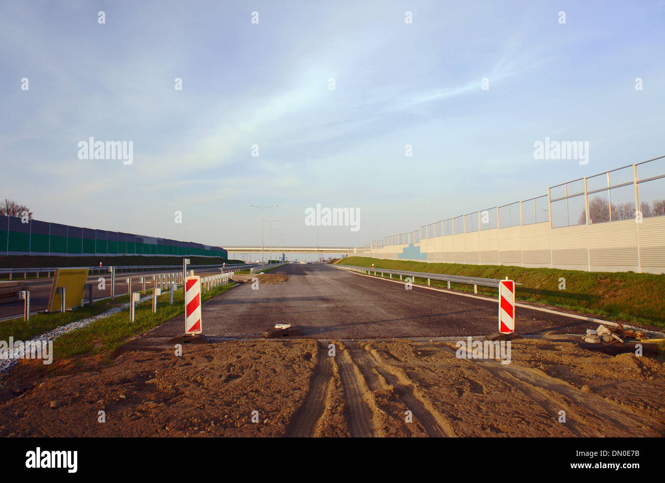 orbital road under construction in Poznan, Poland, may 2013 - Stock Image