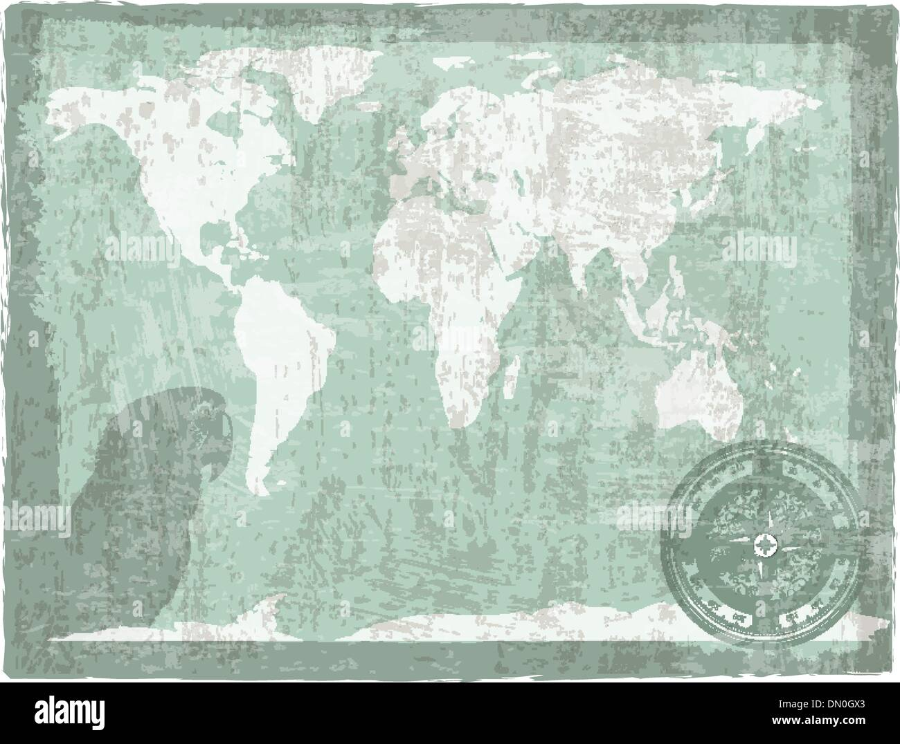 travel vintage background - Stock Vector