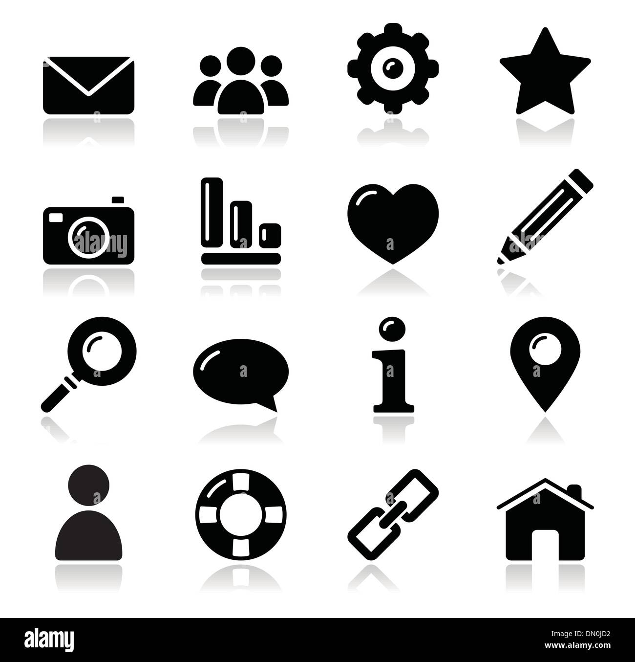 glossy modern clean icons for web navigation stock vector art