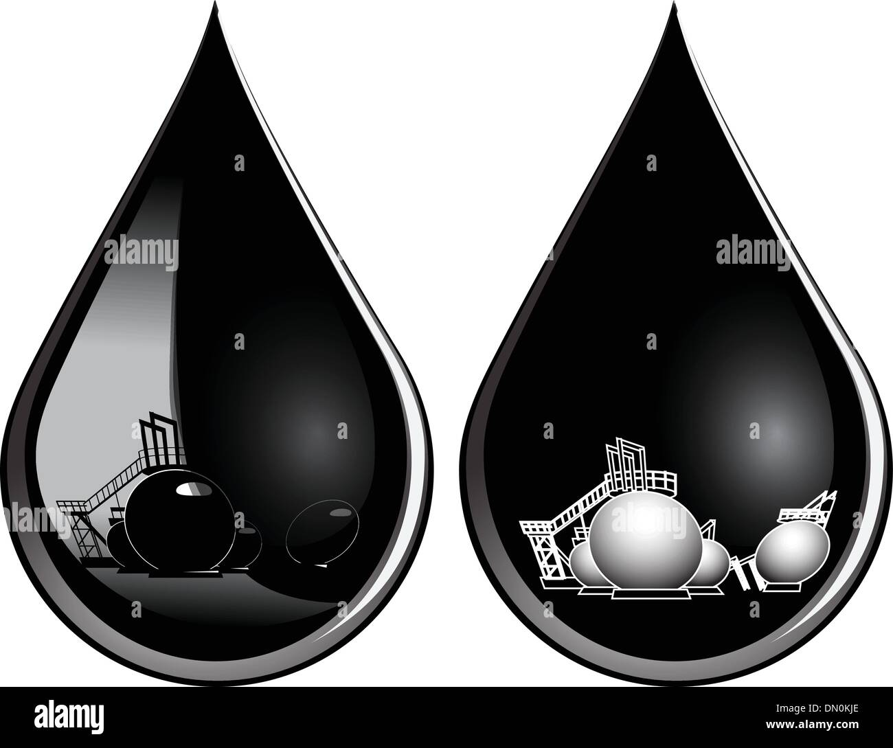 Drop of oil - Stock Image