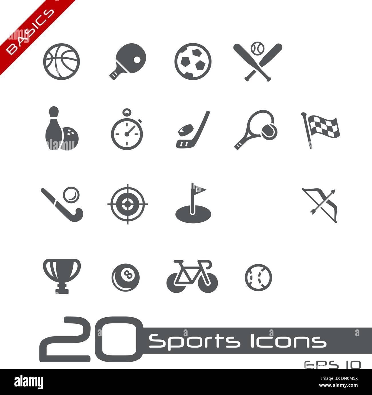 Sports Icons // Basics - Stock Image