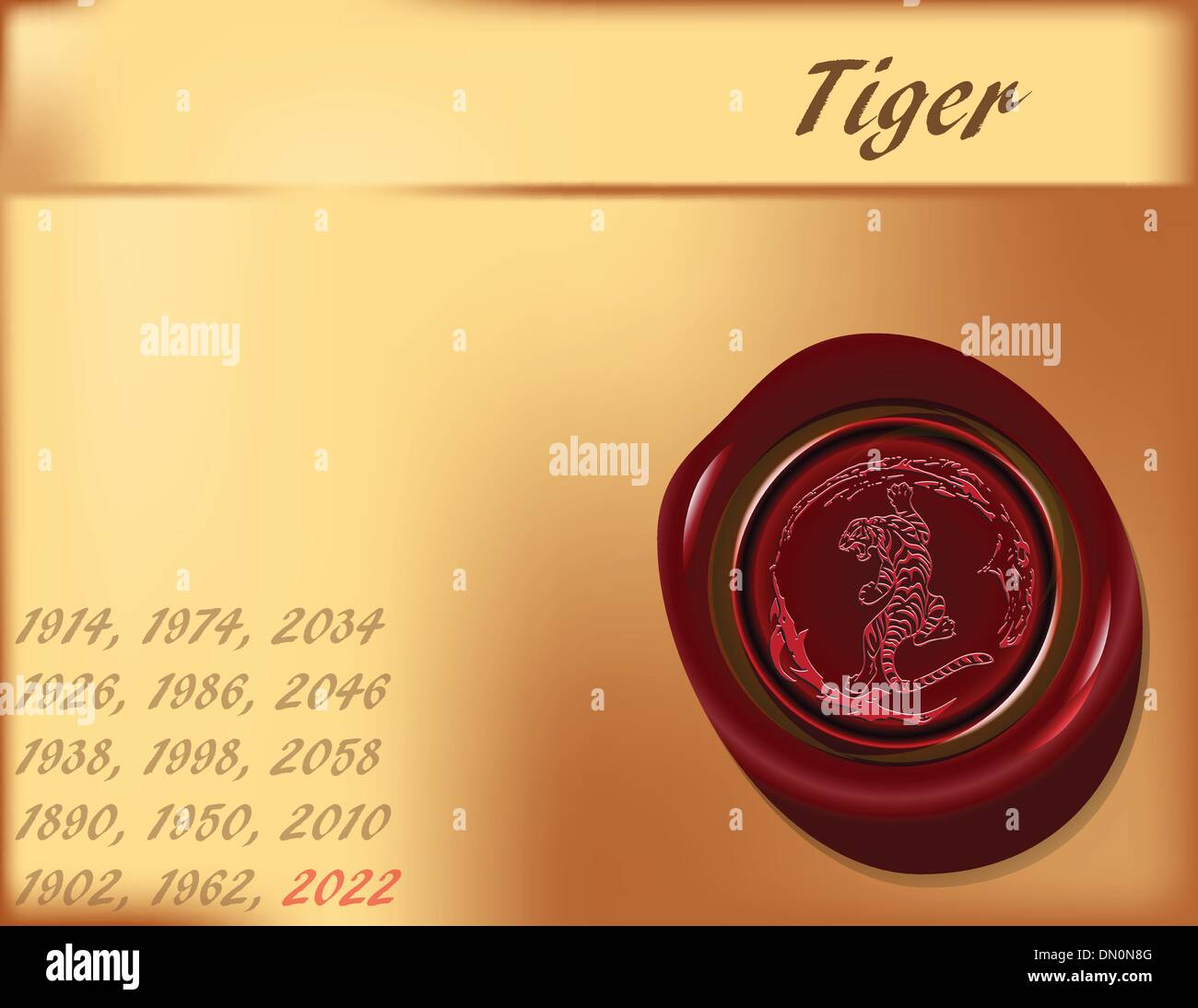Year of the Tiger - the background - Stock Image