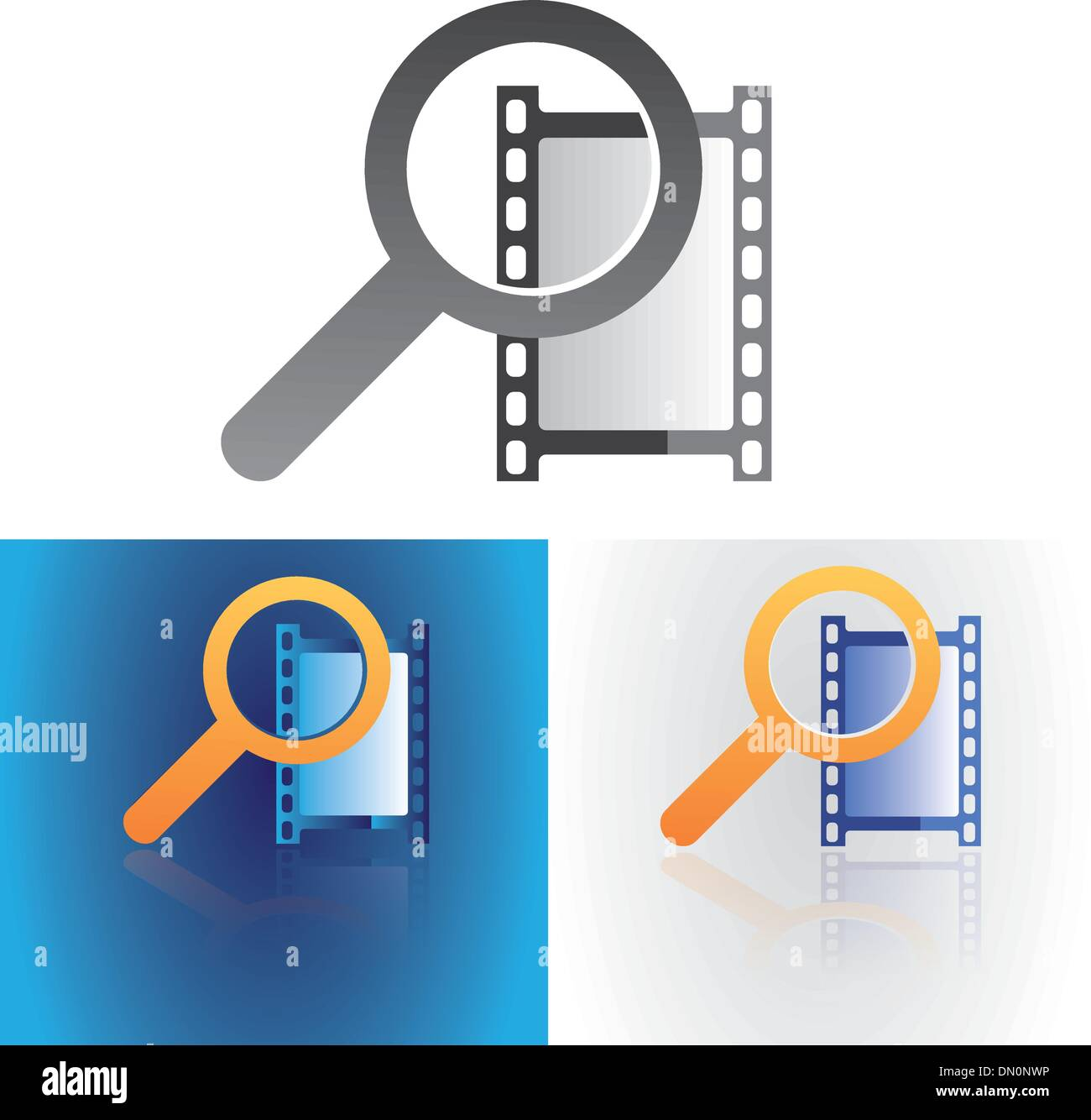 media search - Stock Vector