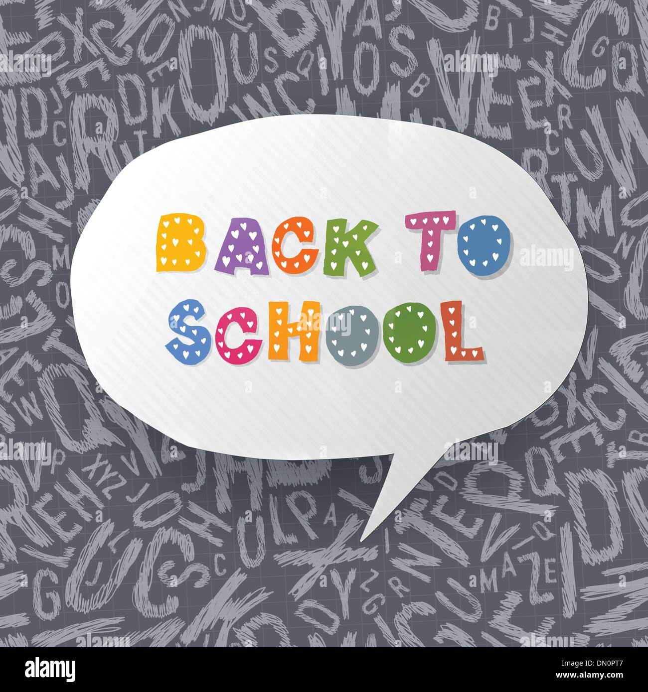 Back to school abstract background. Vector illustration, EPS10 Stock Vector