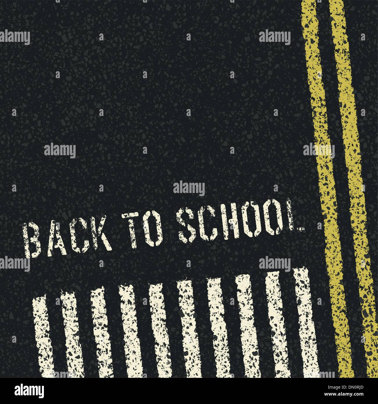 Back to school. Road safety concept. Vector, EPS8 - Stock Image