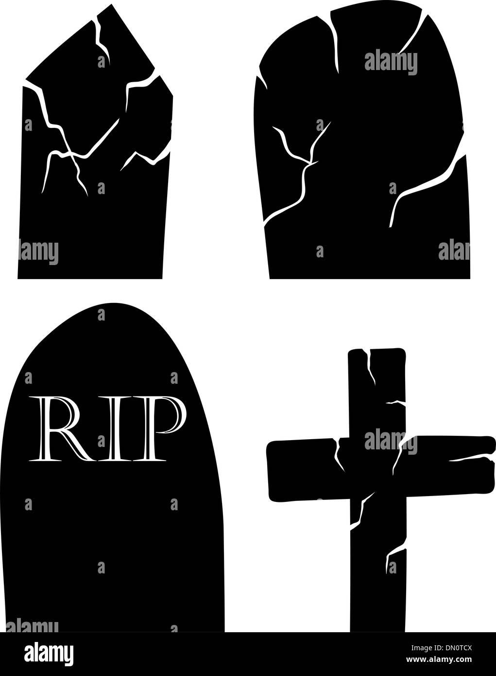 grave set - Stock Vector