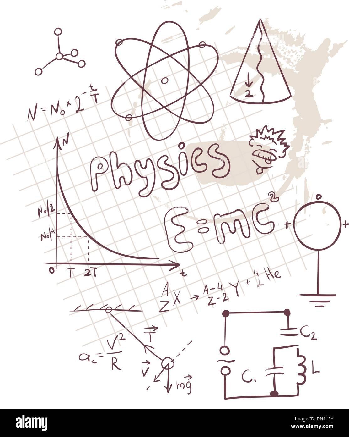Physics set - Stock Image