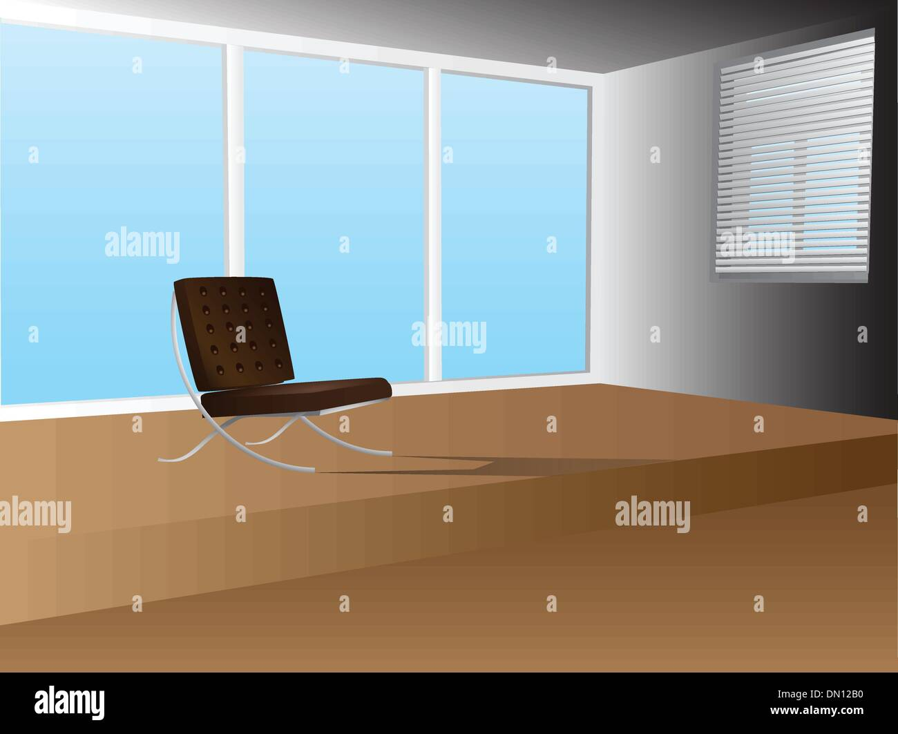 Office interior with armchair - Stock Vector