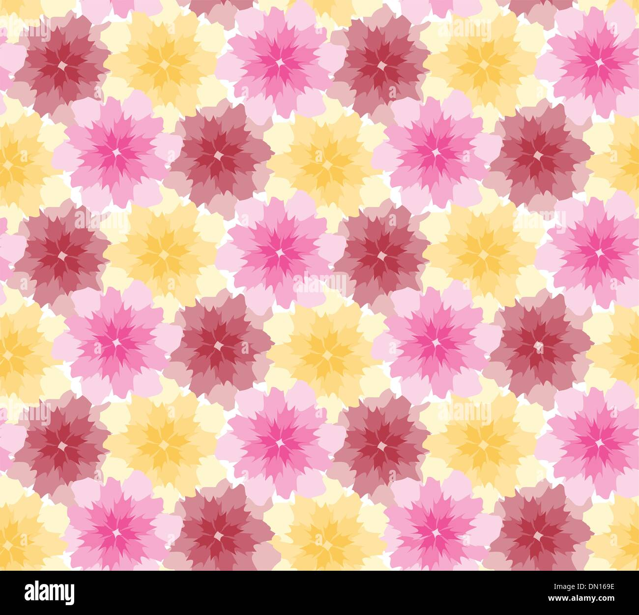 Abstract floral pattern (vector) - Stock Image