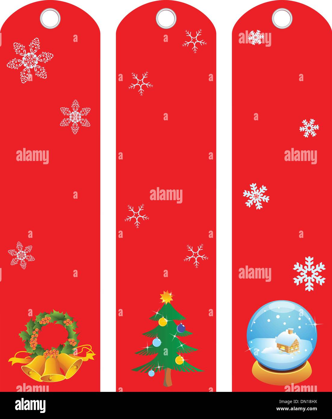 Labels winter holidays Stock Vector