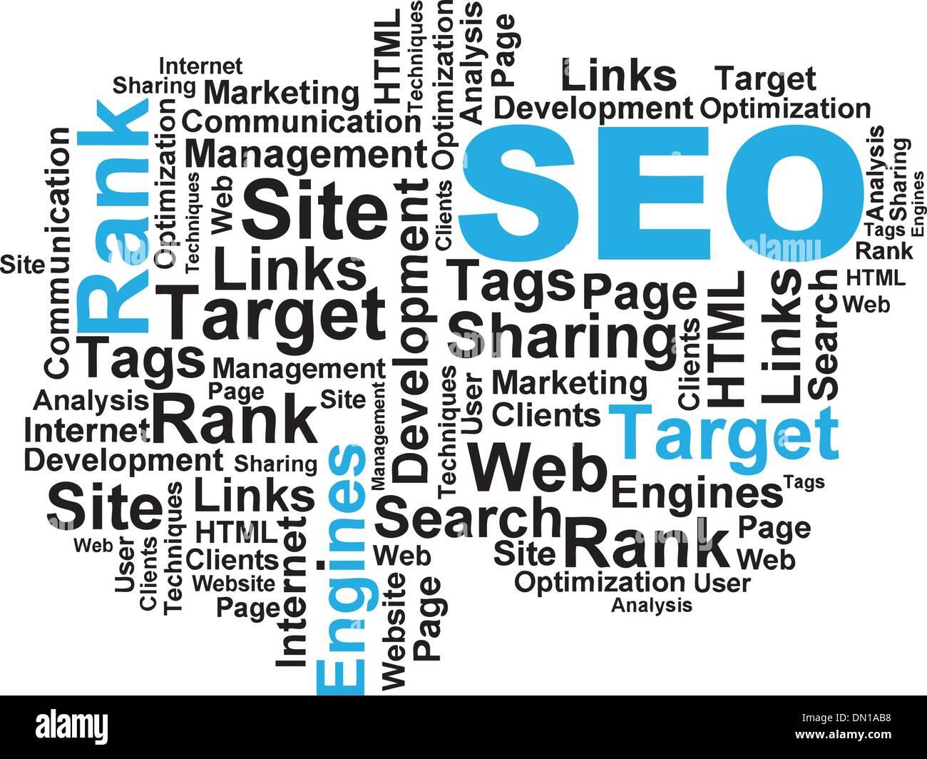 SEO Wordcloud - Stock Image