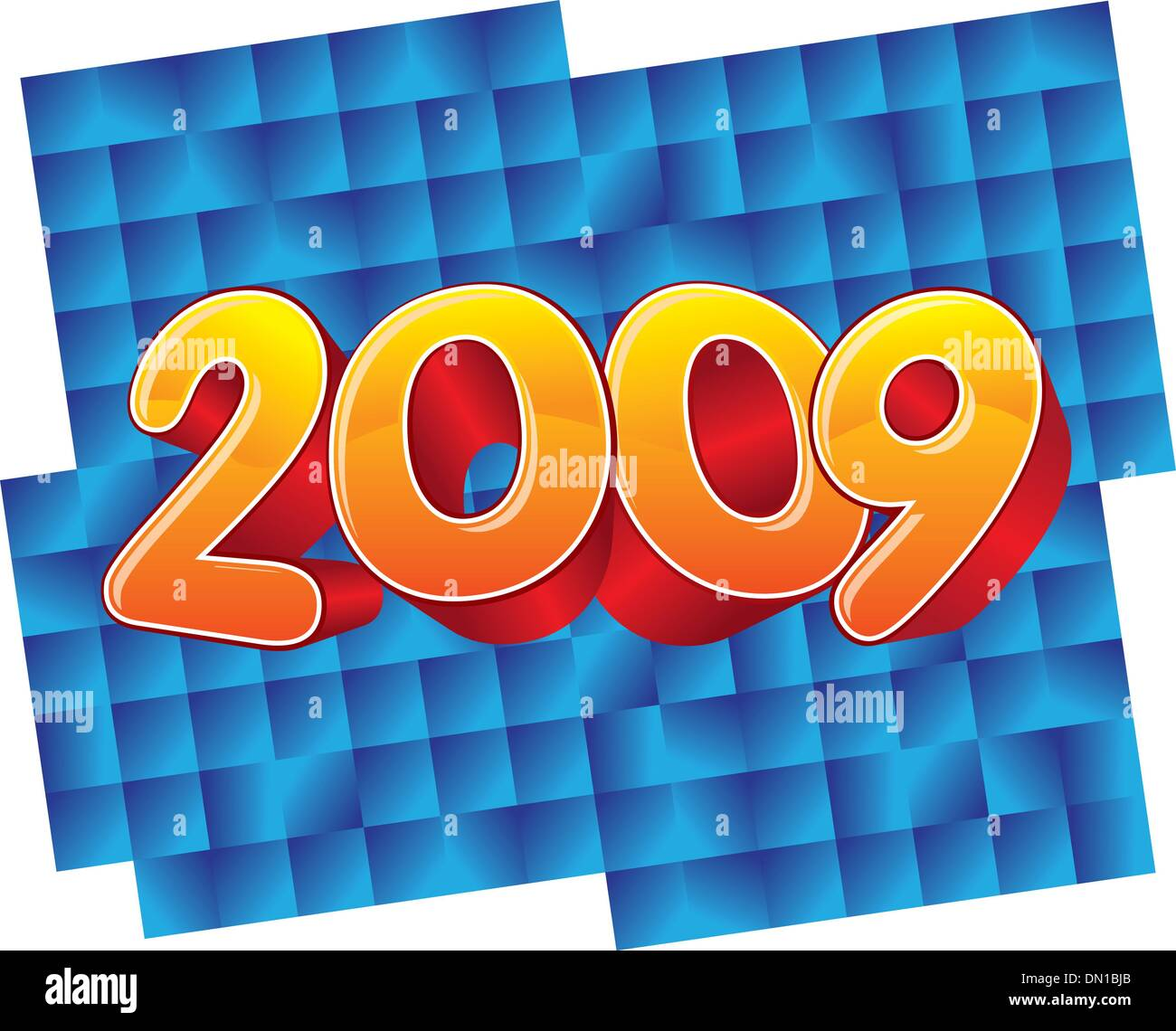 2009 new year celebration - Stock Vector