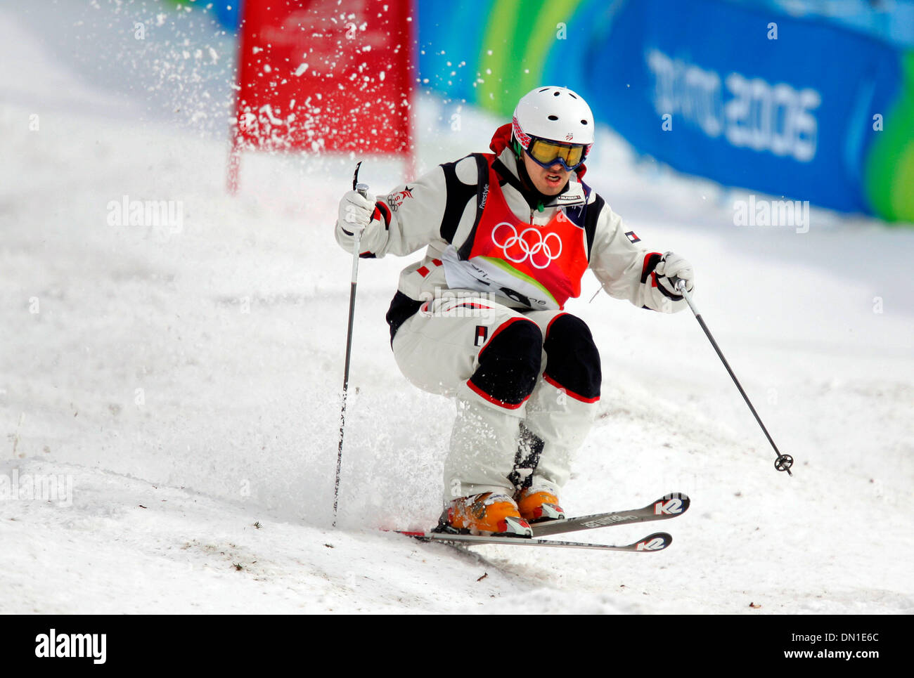 Feb 15 2006 Sauze DOulx ITALY TORINO WINTER OLYMPICS TRAVIS CABRAL Of The United States Competes In Qualifying Run Freestyle Skiing