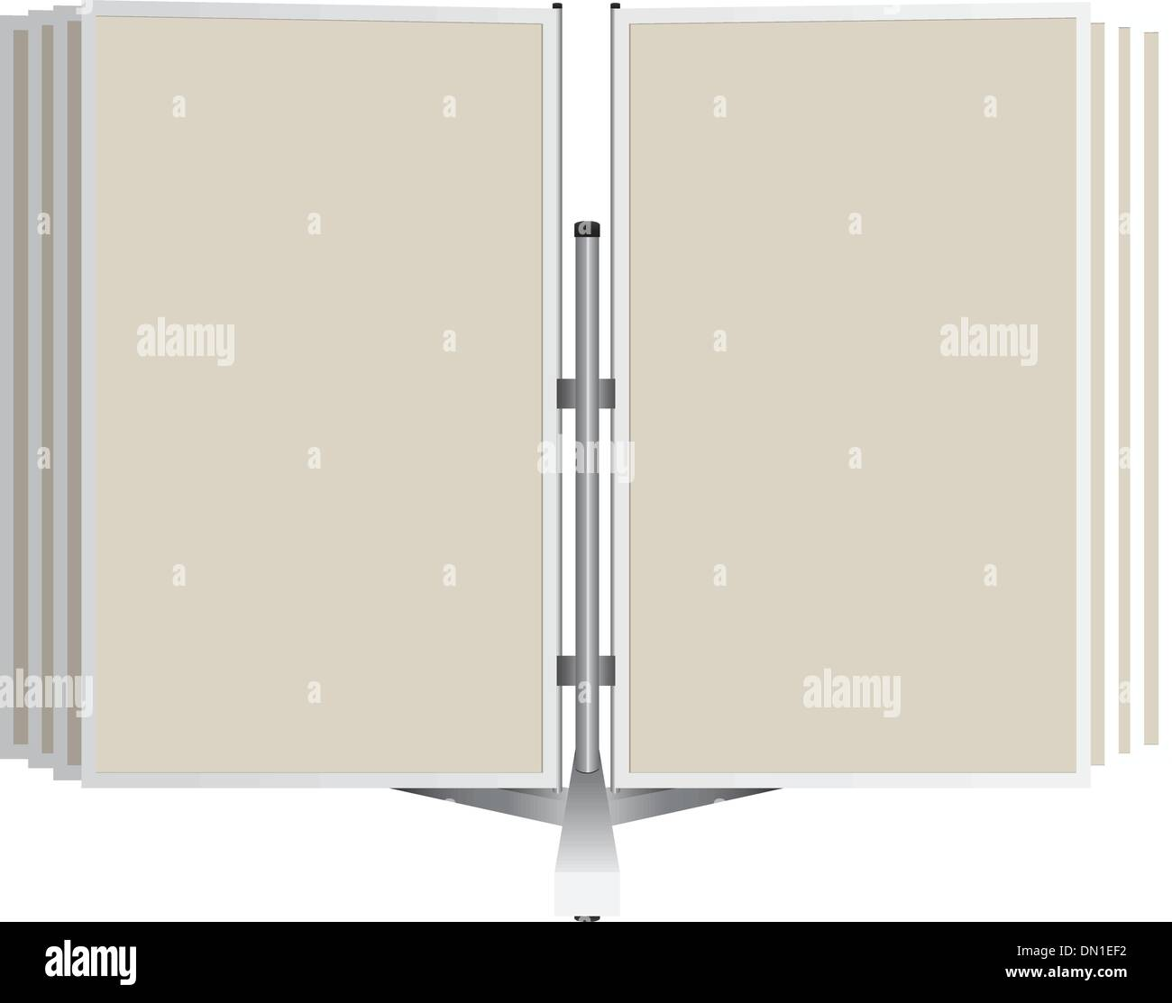 Commercial Panel Book - Stock Vector