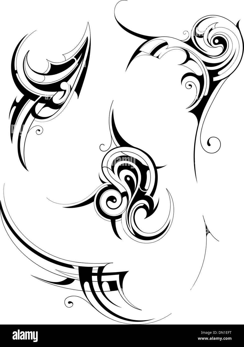 Tribal art - Stock Image