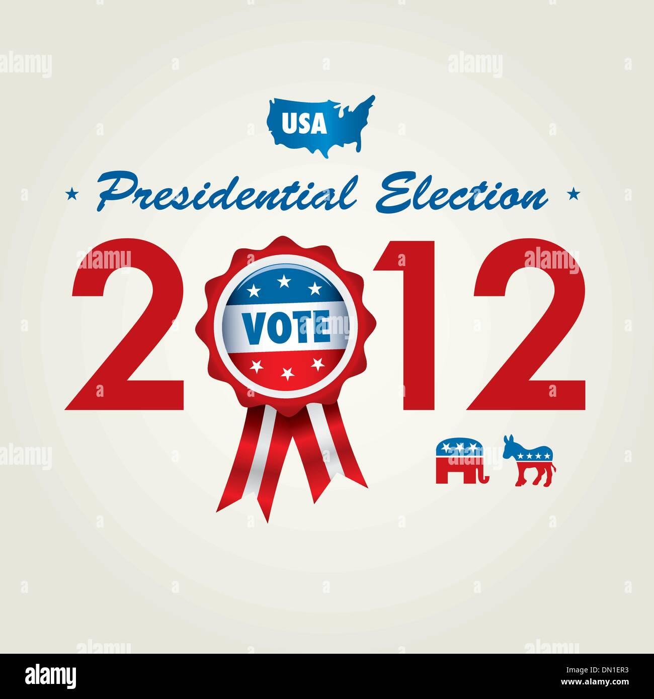 U.S presidential election 2012 - Stock Vector