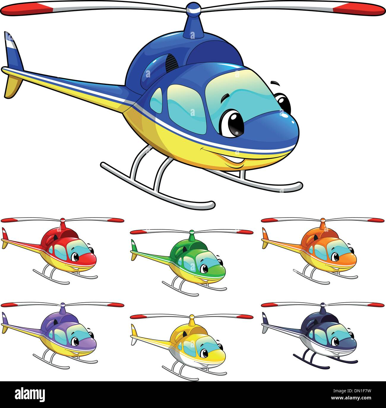 Funny helicopter. - Stock Vector