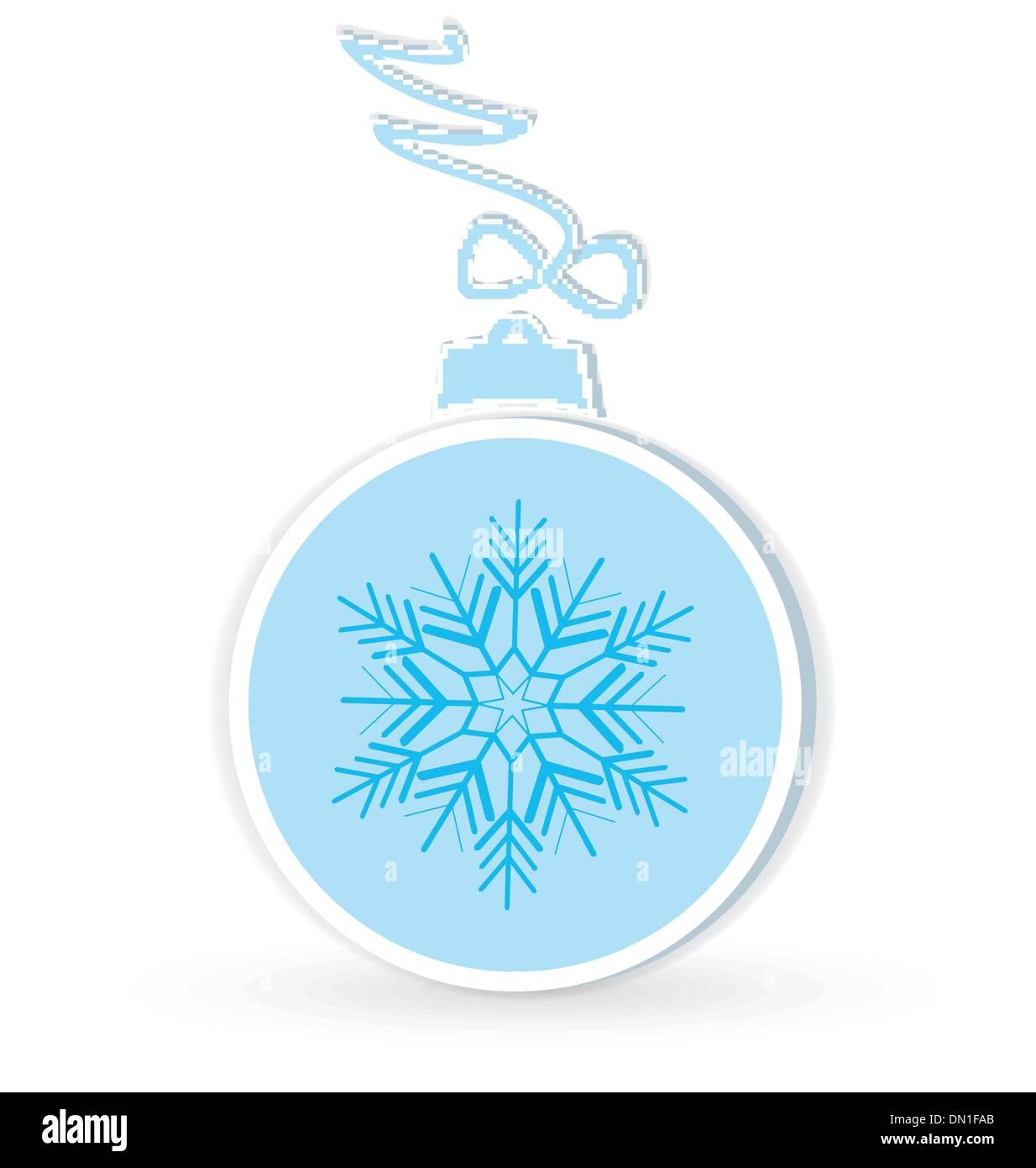 Christmas ball crafted vector - Stock Image