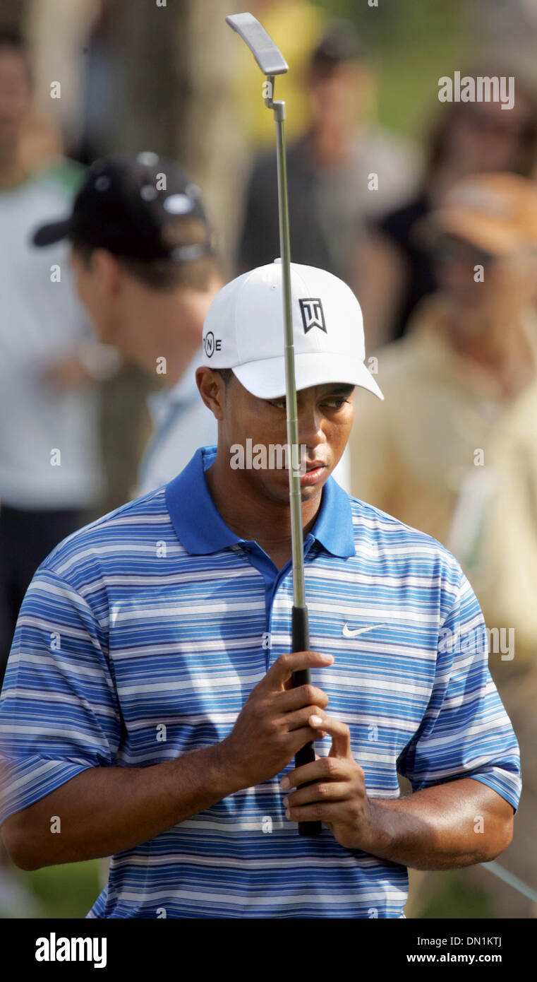 Mar 04, 2006; Miami, FL, USA; Tiger Woods walks to the 11th tee after making a par on the 10th hole. Mandatory Credit: Stock Photo