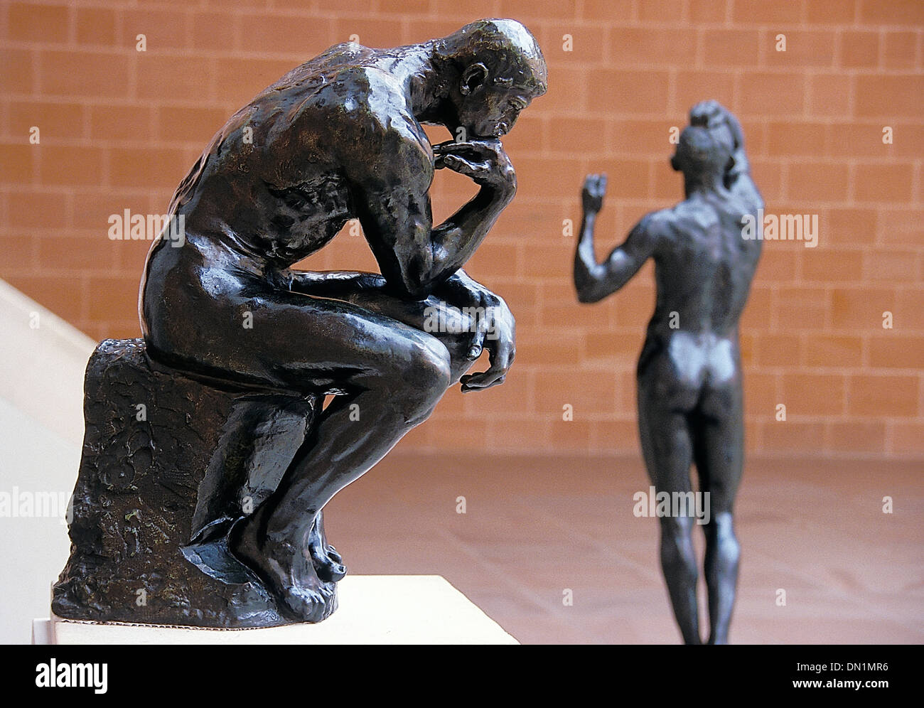 The thinker by rodin at the burrell collection Glasgow - Stock Image