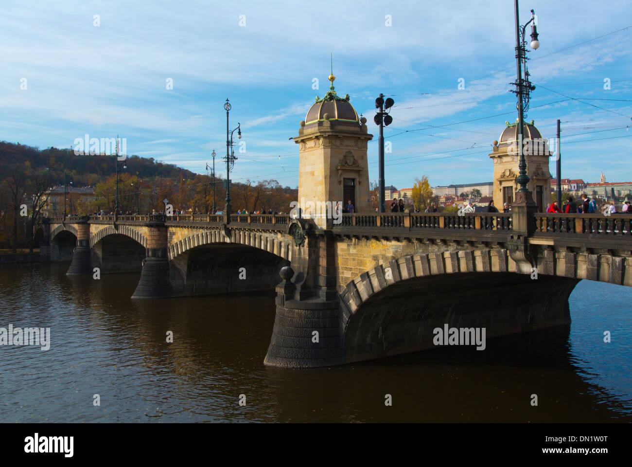 Legii most bridge Prague Czech Republic Europe - Stock Image