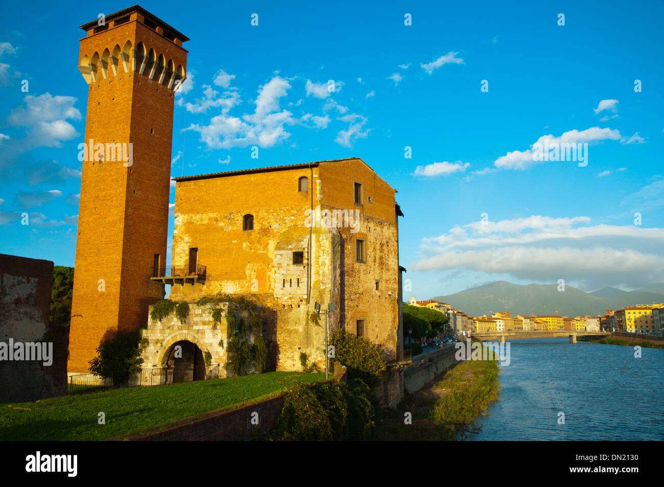 Fortezza Vecchia the old fortress by the River Arno central Pisa city Tuscany region Italy Europe Stock Photo