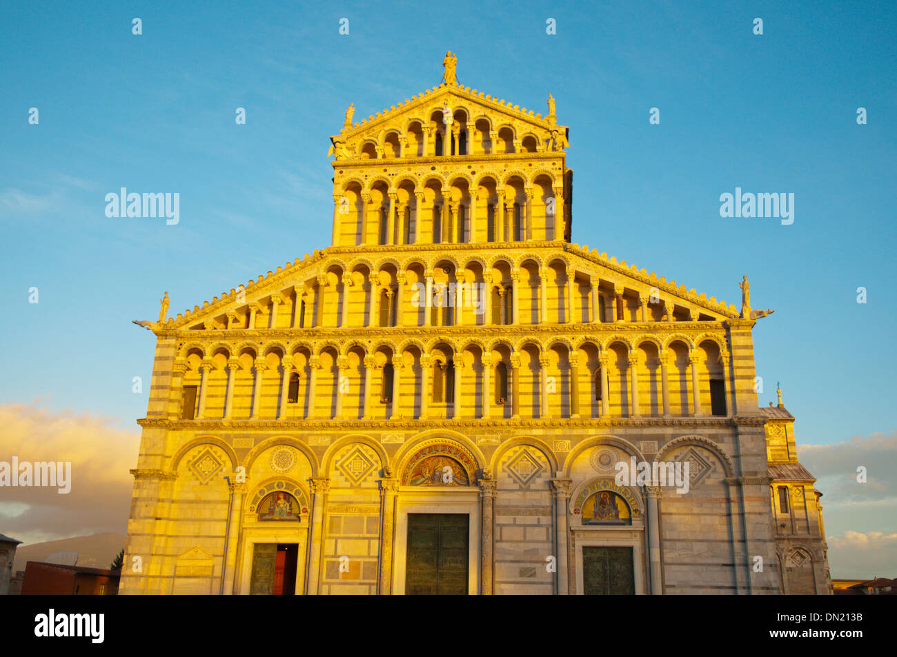 Duomo the Cathedral Campo dei Miracoli the field of miracles Pisa city Tuscany region Italy Europe - Stock Image