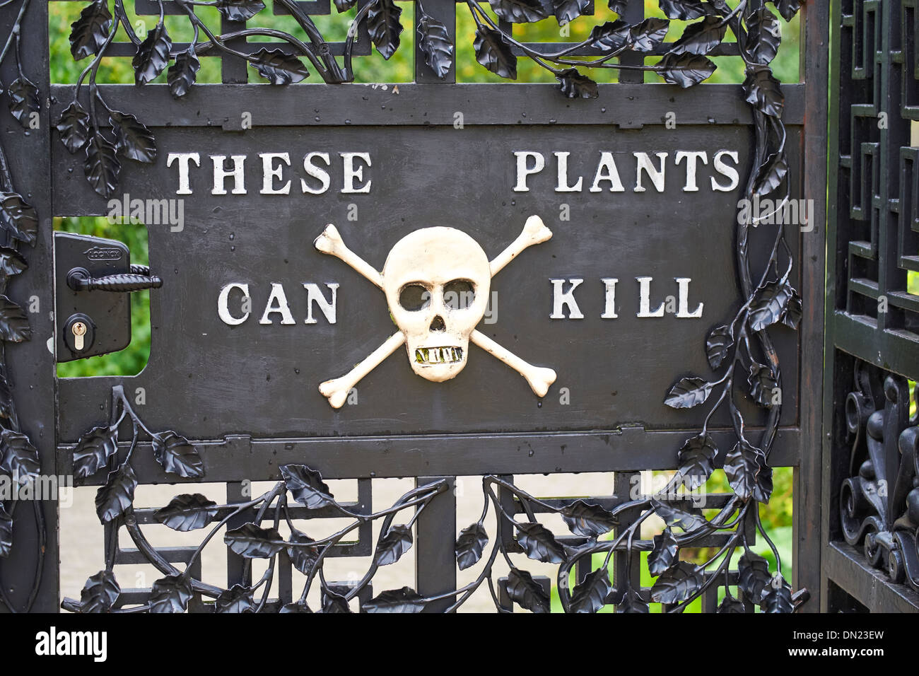 Poison garden at Alnwick Garden, Northumberland, England, UK. - Stock Image