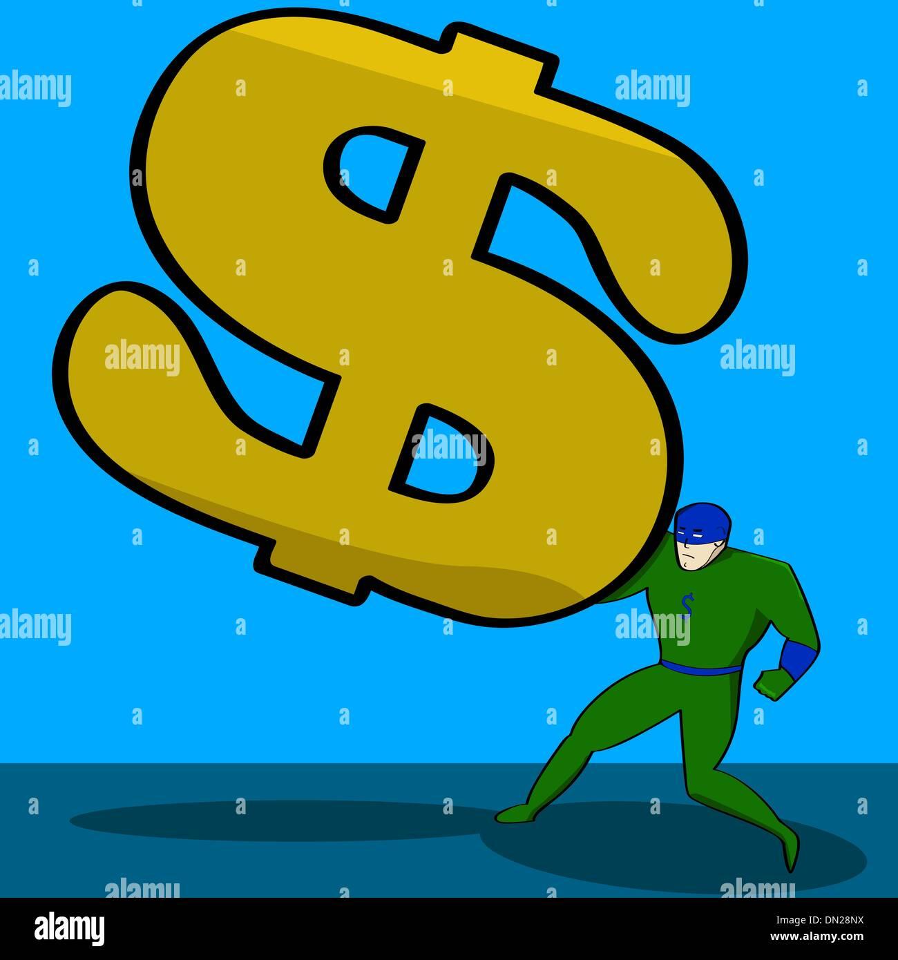 Financial burden - Stock Image
