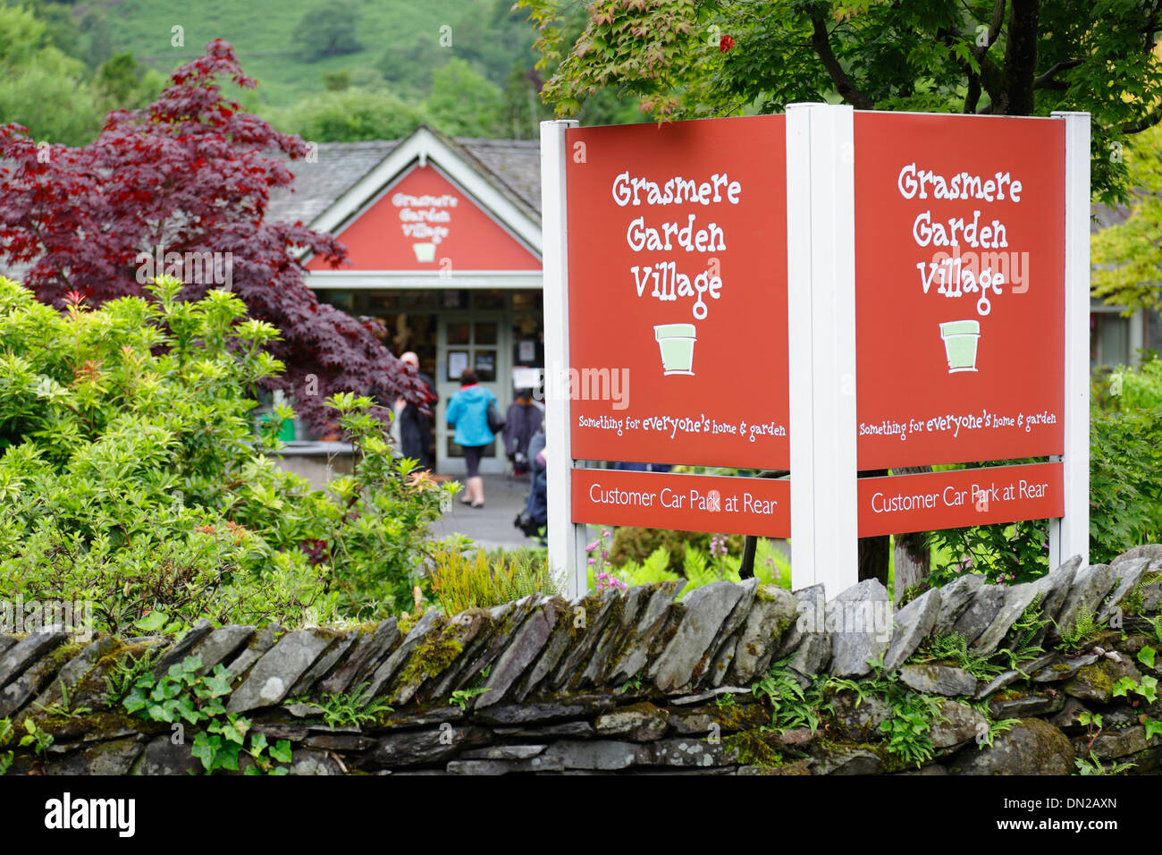 Grasmere Garden Village garden centre, Grasmere, Lake District, Cumbria, England, UK - Stock Image