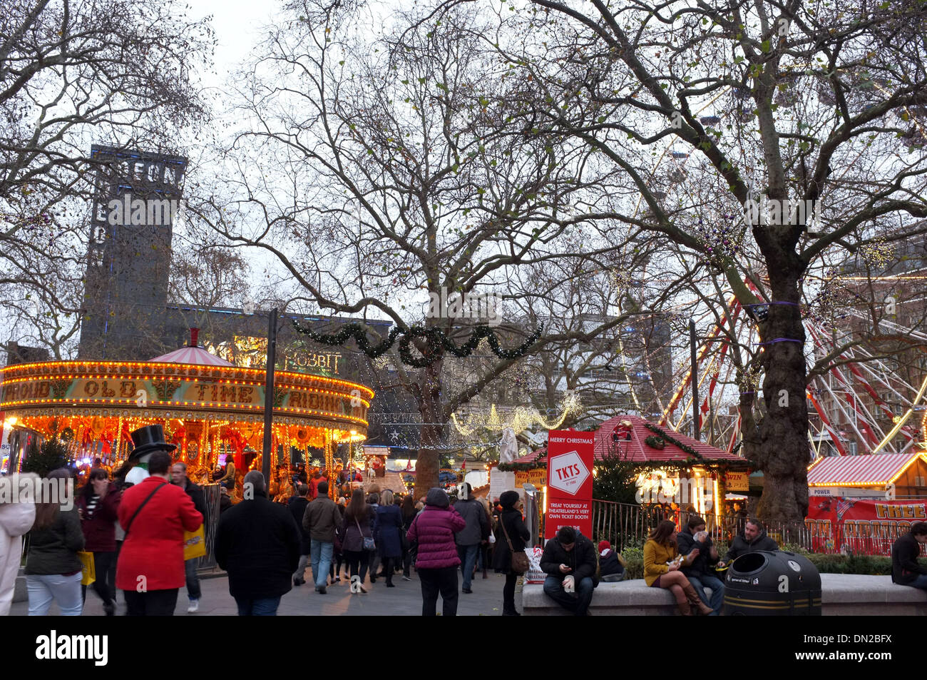 carnival funfair in leicester square london UK 2013 - Stock Image