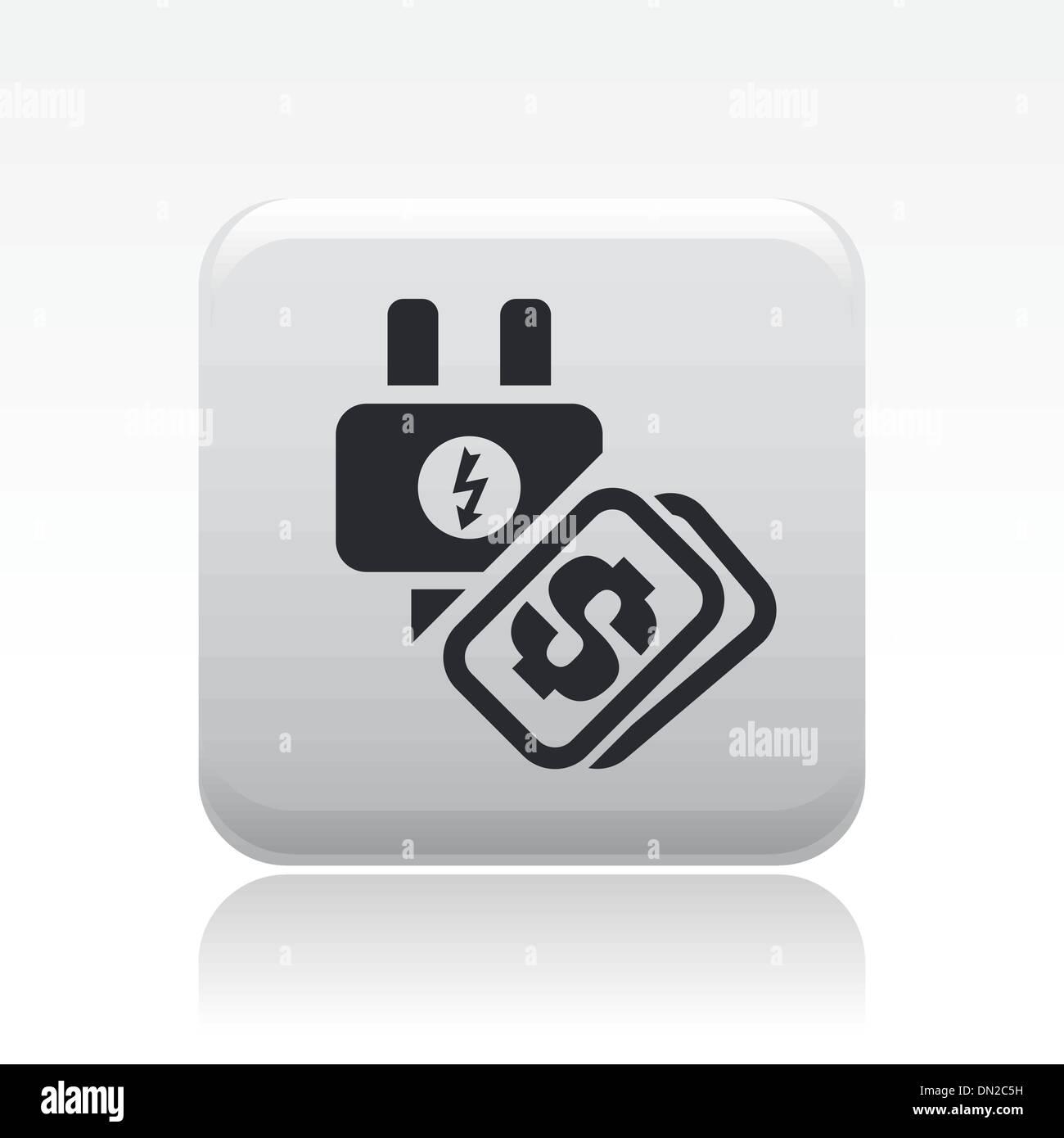 Vector illustration of single energy price icon - Stock Vector