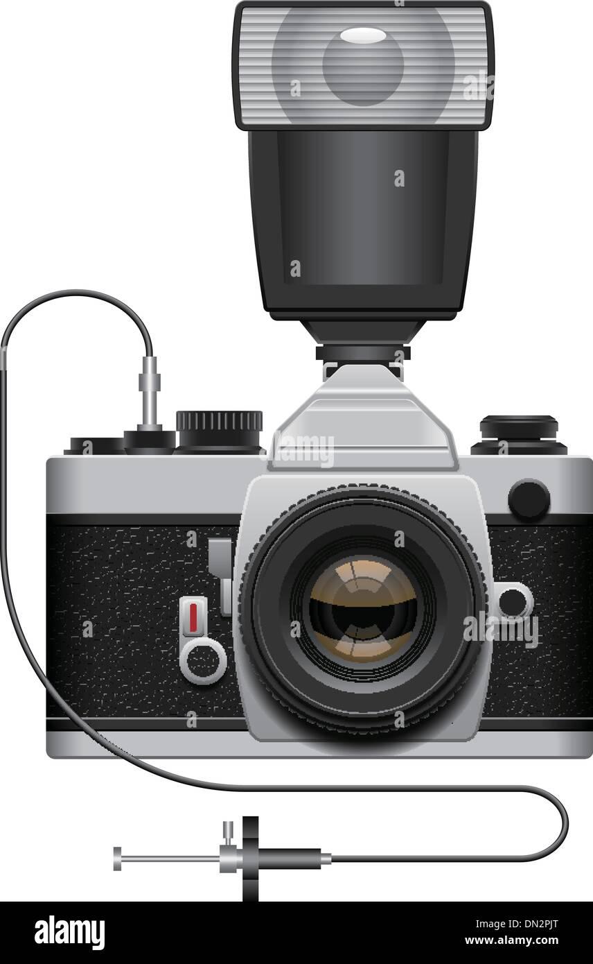 SLR Camera - Stock Vector