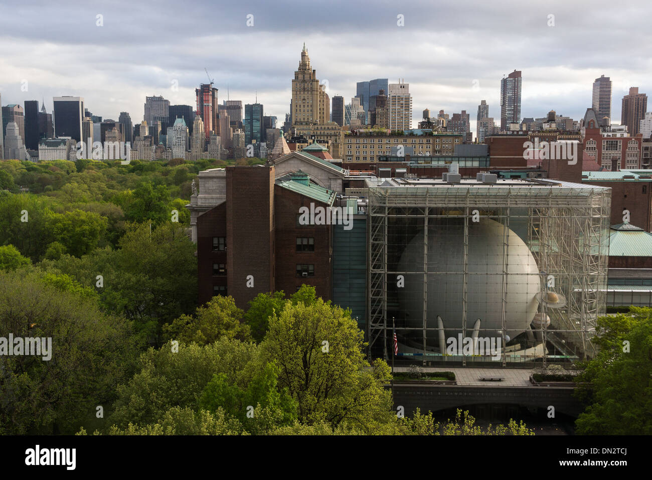 Museum of Natural History and Central park, New York City - Stock Image