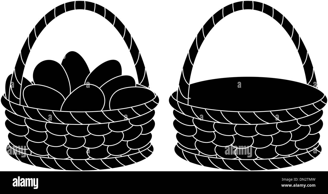 Empty Easter Basket Black And White Stock Photos Images Alamy