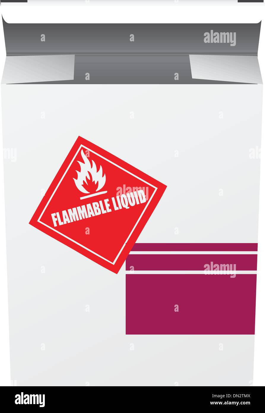 Box for Flammable Liquid - Stock Image