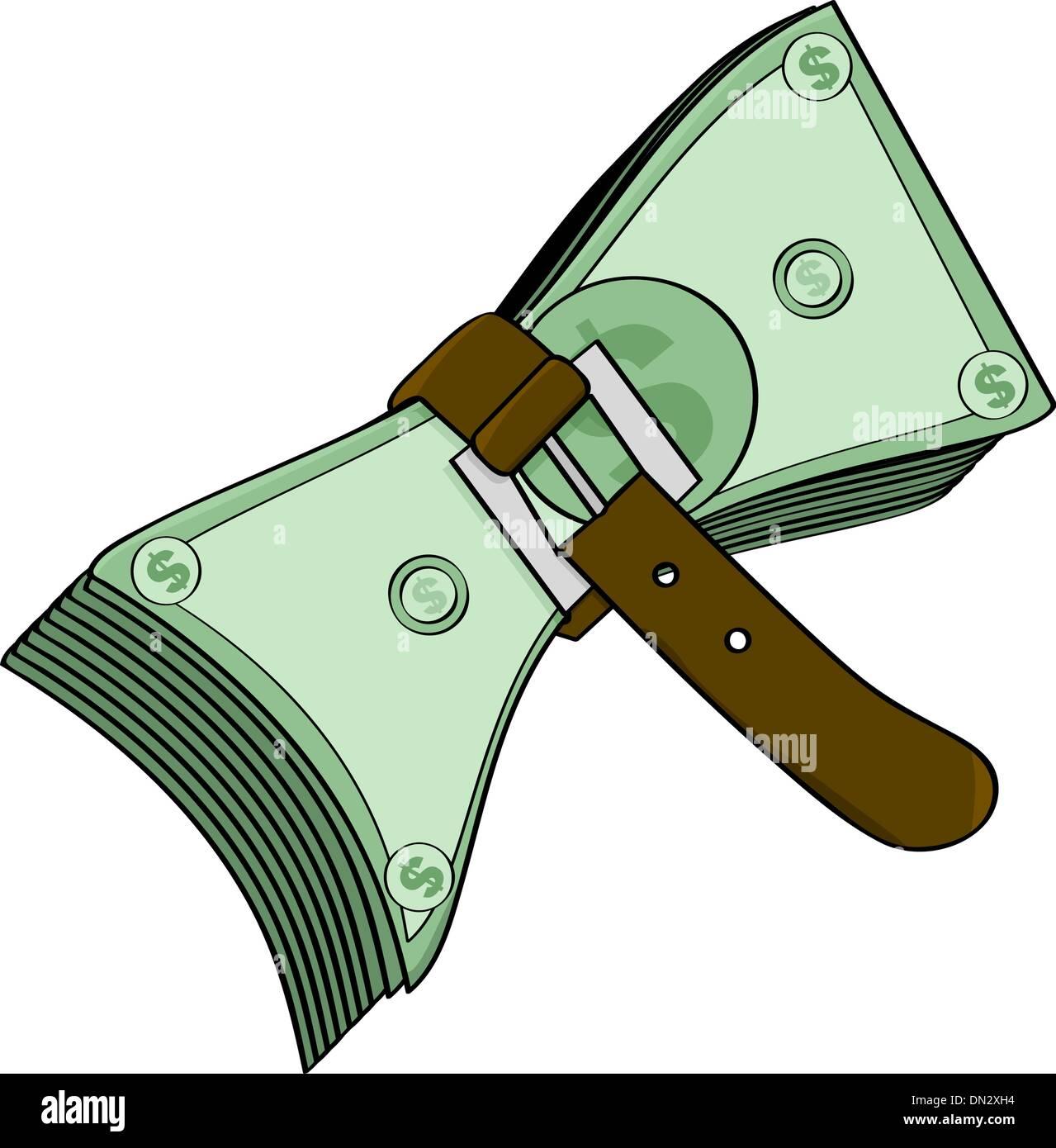 Tight money - Stock Image