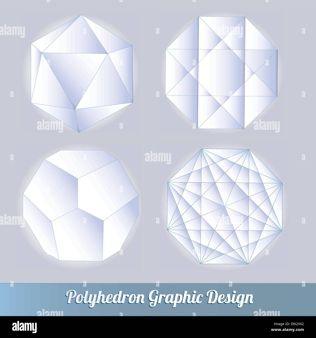 polyhedron for graphic design - Stock Image