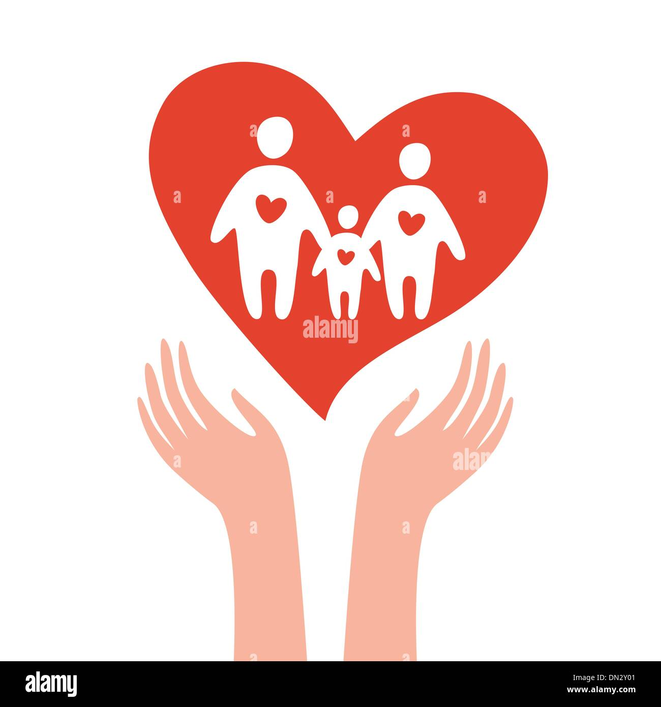take-care-of-family - Stock Image