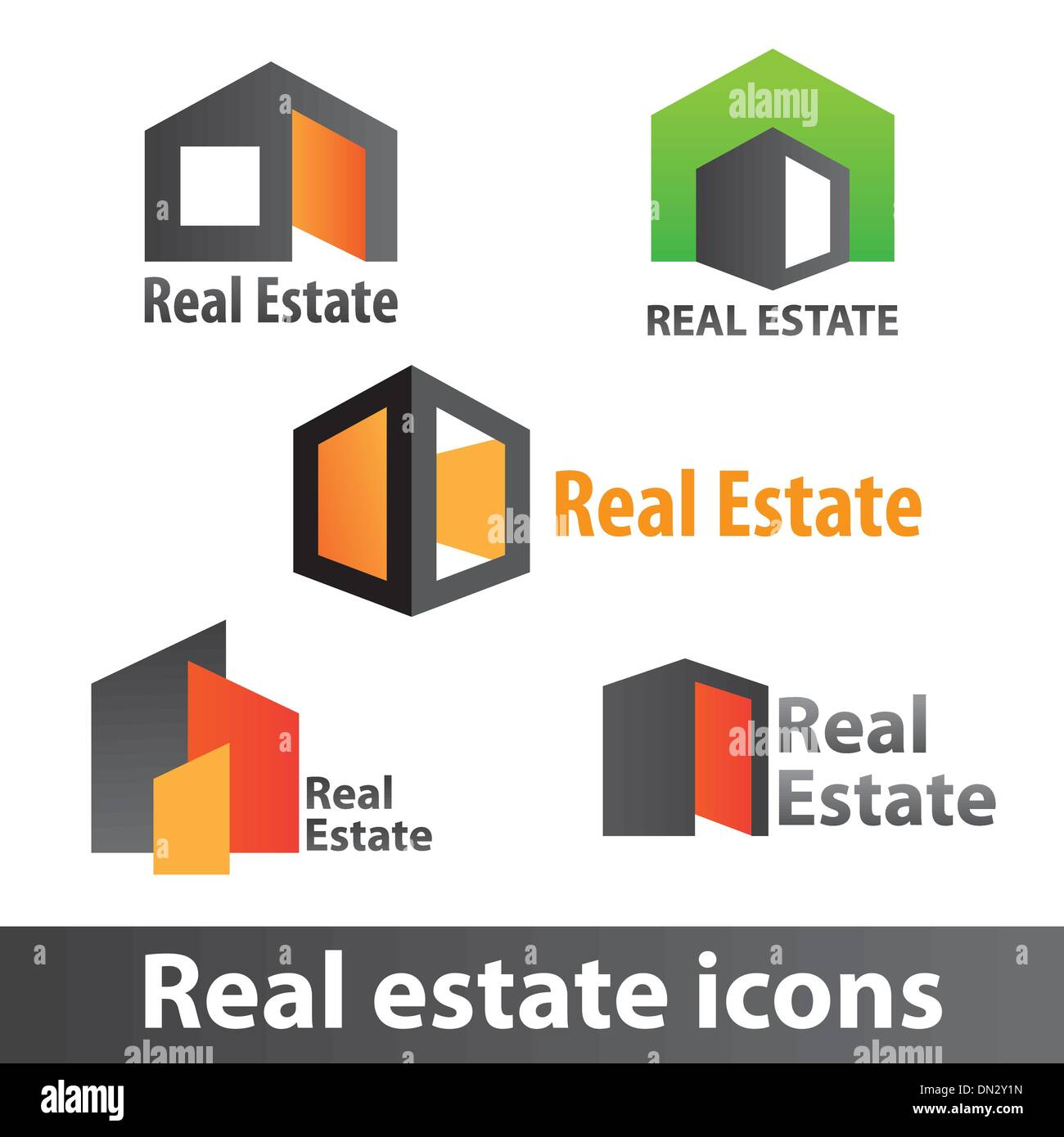 Real-estate-icons - Stock Vector